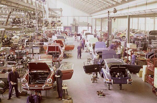 Porsche 911 factory in 1970