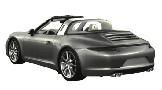 991 Porsche 911 Targa drawing