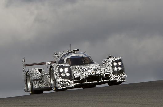 Porsche LMP1 test with Mark Webber