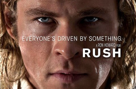 Rush movie poster featuring Chris Hemsworth as James Hunt