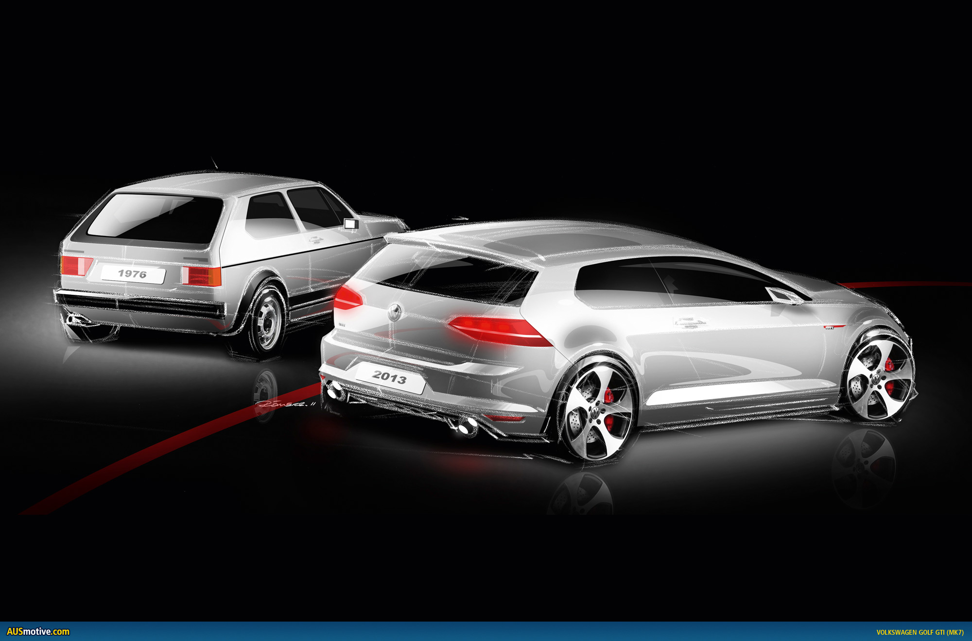 volkswagen golf vii gti in detail. Black Bedroom Furniture Sets. Home Design Ideas