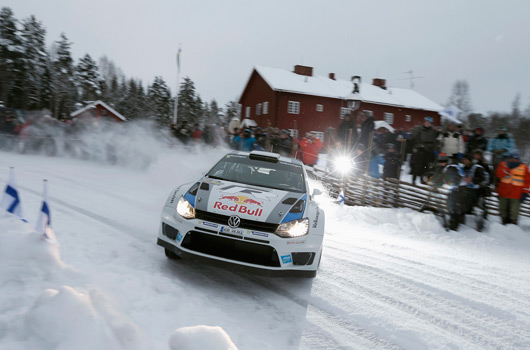 Volkswagen Polo R WRC at 2013 Rally Sweden
