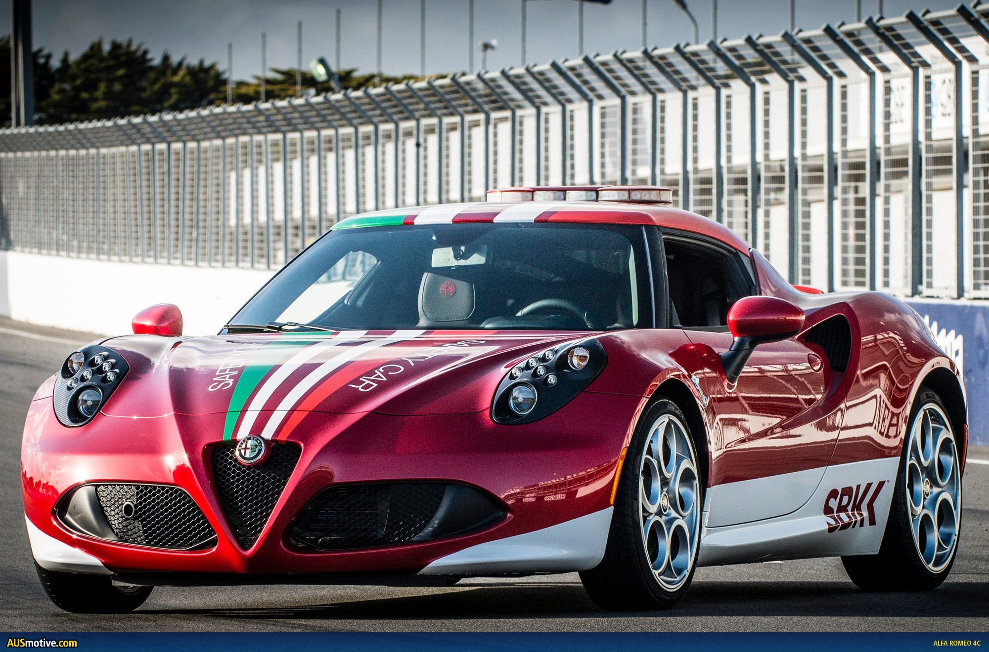 alfa romeo 4c in town for sbk. Black Bedroom Furniture Sets. Home Design Ideas