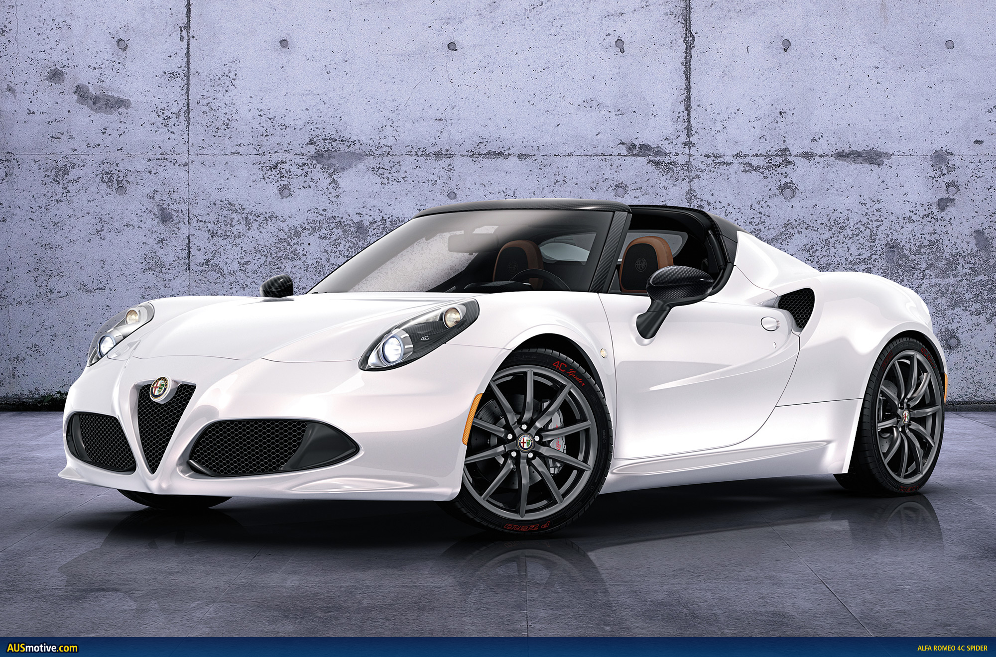 geneva 2014 alfa romeo 4c spider. Black Bedroom Furniture Sets. Home Design Ideas