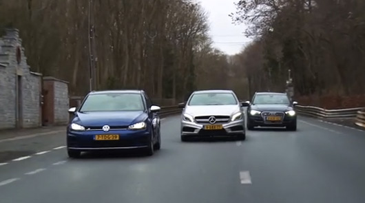VW Golf R v Mercedes A45 AMG v Audi S3