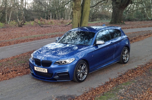BMW M135i with M235i front