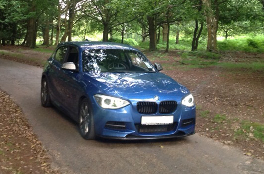 BMW M135i with oem front
