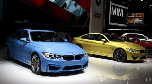 BMW M3 and M4 on display in Detroit