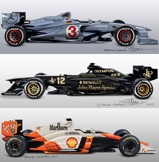 Bruce Thomson F1 sketches