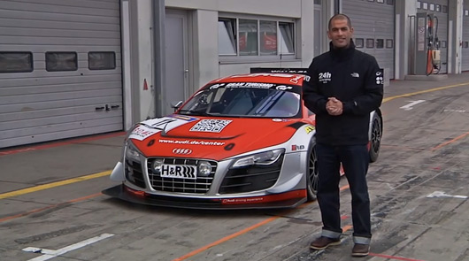 Chris Harris with the Audi R8 LMS Ultra GT3