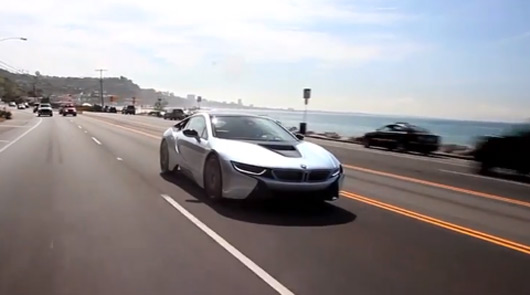 Chris Harris drives the BMW i8
