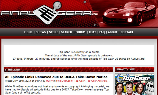 FinalGear.com take-down notice