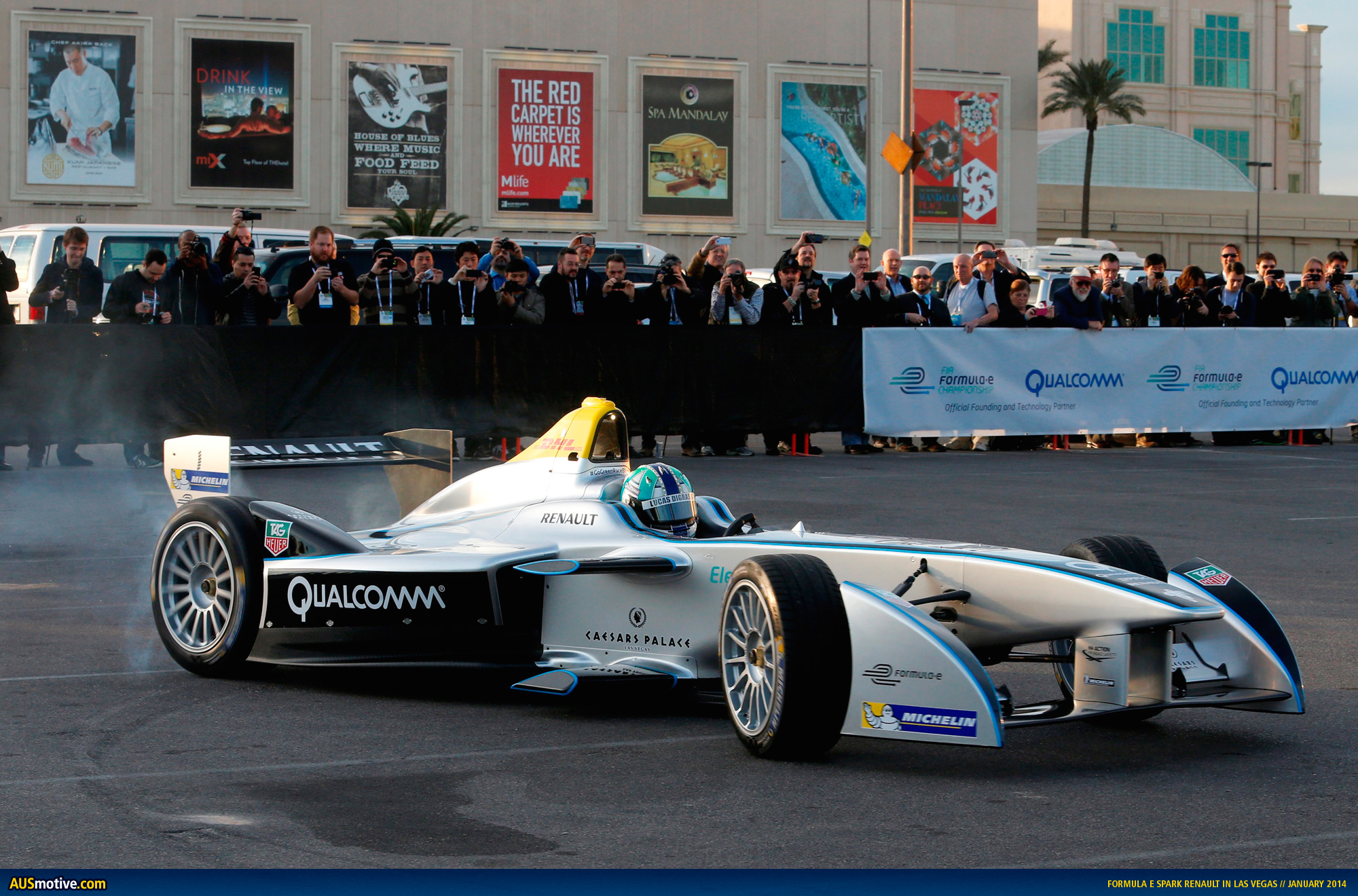 formula e car takes to las vegas streets. Black Bedroom Furniture Sets. Home Design Ideas