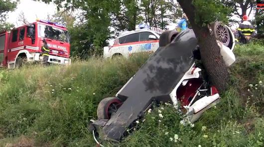 McLaren F1 crash scene