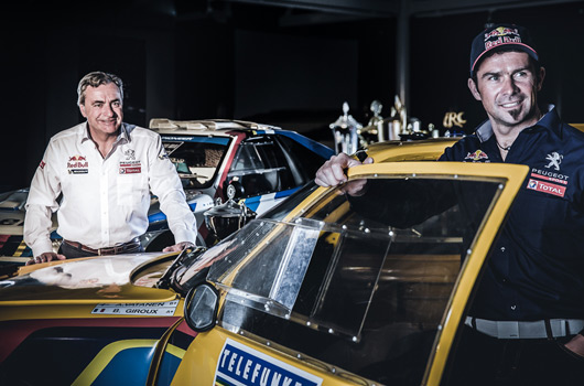 Carlos Sainz and Cyril Despres