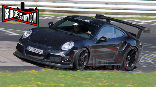 2015 Porsche 911 GT3 RS spied at the Nurburgring