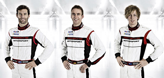Mark Webber, Timo Bernhard, Brendon Hartley