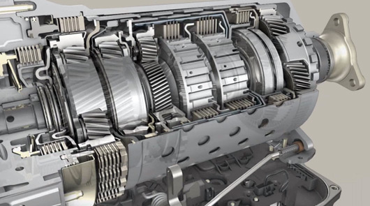 8-speed ZF automatic transmission