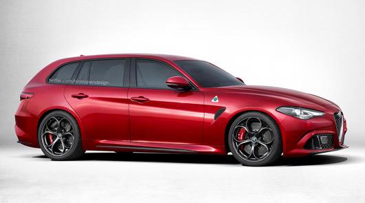 Alfa Romeo Giulia QV Sportwagon rendering