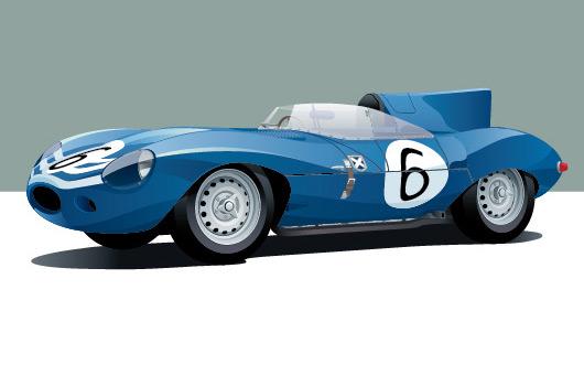 Jaguar D Type by Arthur Schening