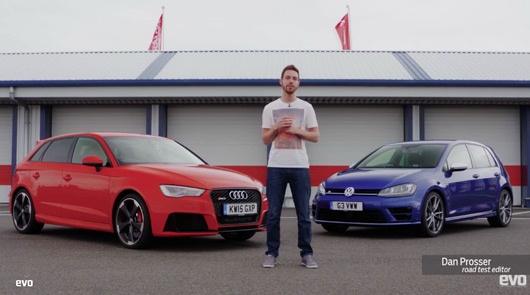 Audi RS3 v Volkswagen Golf R