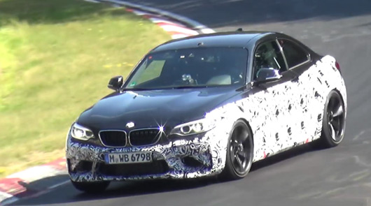 BMW M2 prototype at the Nurburgring