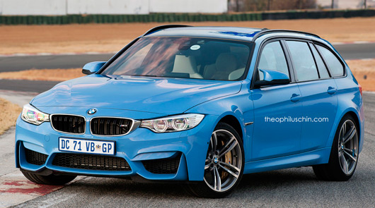 BMW M3 Touring rendering by Theophilus Chin