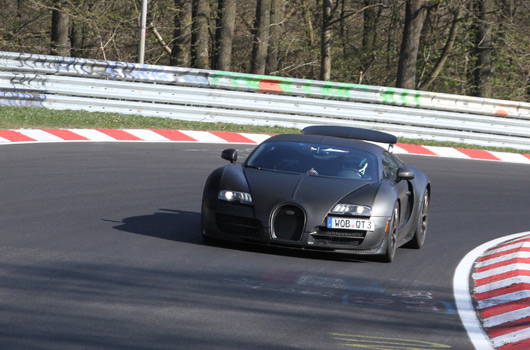 Bugatti Veyron, Nurburgring industry pool, April 2015