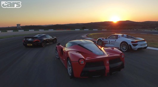 Chris Harris tests the McLaren P1, LaFerrari and Porsche 918