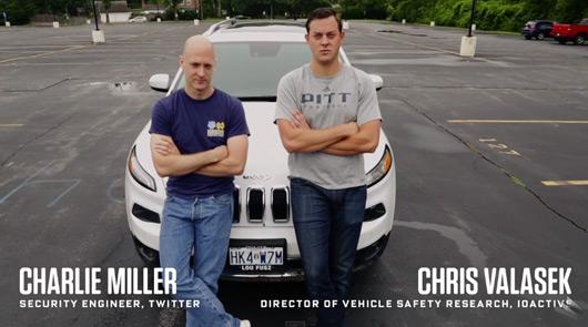 Jeep Cherokee hackers, Charlie Miller and Chris Valasek