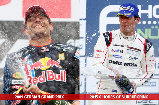 Mark Webber maiden wins at the Nurburgring