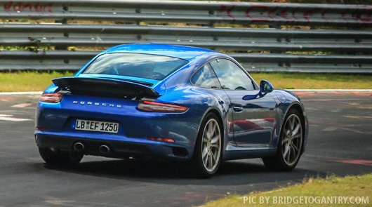 Porsche 911 991.2 spied at the Nurburgring