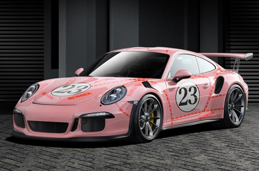 Porsche 911 GT3 RS in Pink Pig livery