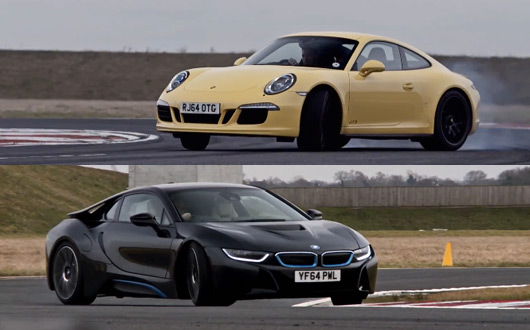 Porsche 911 GTS v BMW i8