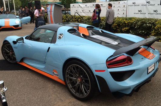 porsche 918 spyder in gulf racing livery. Black Bedroom Furniture Sets. Home Design Ideas