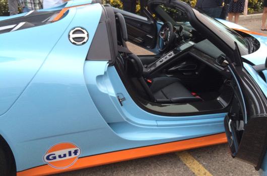Porsche 918 Spyder in Gulf Racing livery