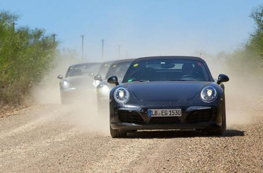 Porsche 991.2 911 in testing