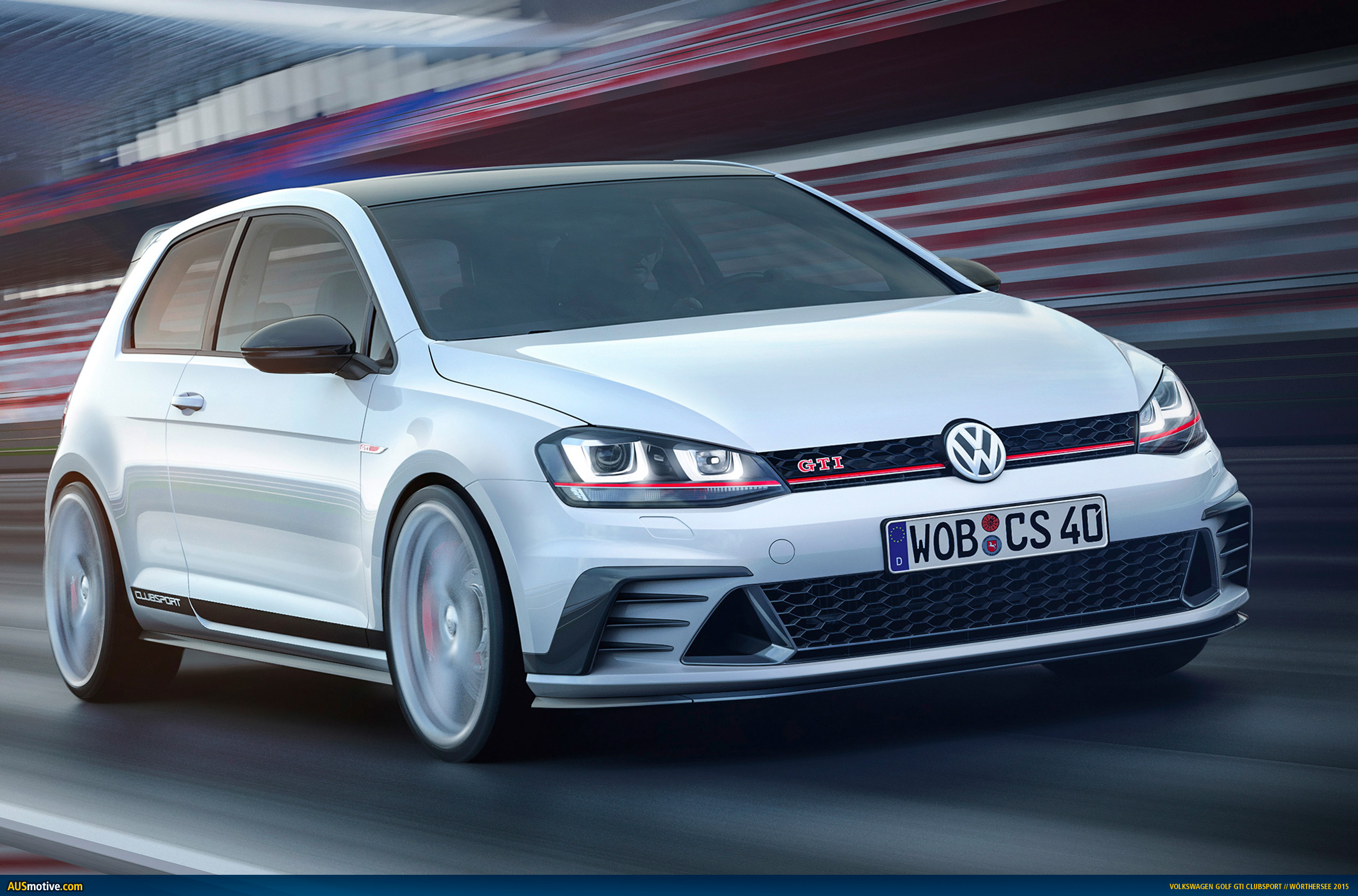 volkswagen golf gti clubsport concept revealed. Black Bedroom Furniture Sets. Home Design Ideas